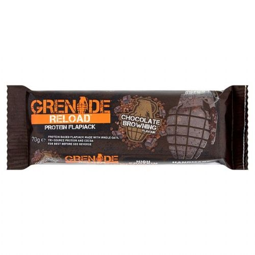 Grenade Reload Protein Flapjack Chocolate Browning Flavour 70g (UK)